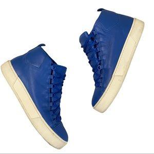 Balenciaga Leather Arena High Top Sneakers 12